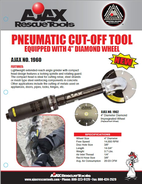 ajax no. 1960 pneumatic cut-off tool - breaching kits & accessories ...